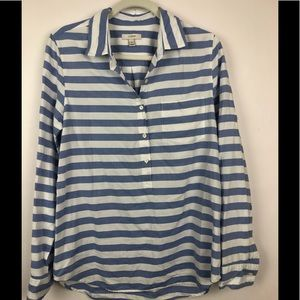 J. Crew Striped Button Down Shirt   Sz 8